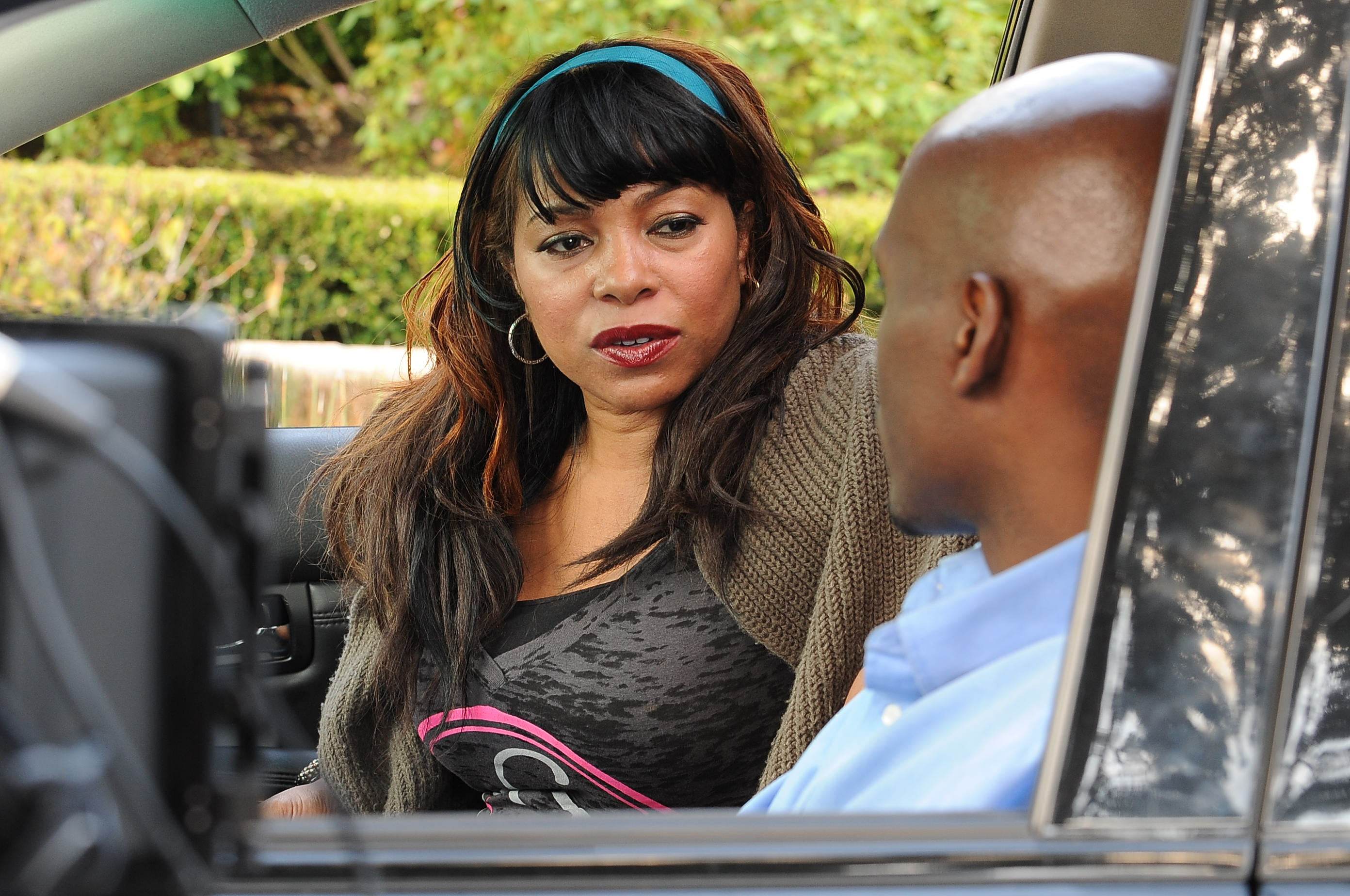 Paula Jai Parker on set of FSC